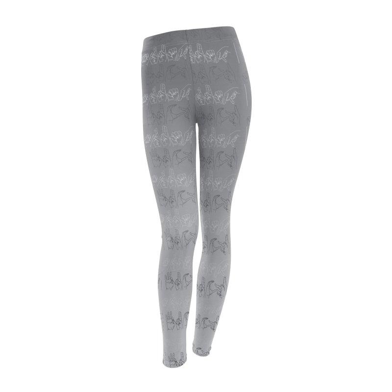 faded grey Women's Leggings Bottoms by izzyberdan's Artist Shop