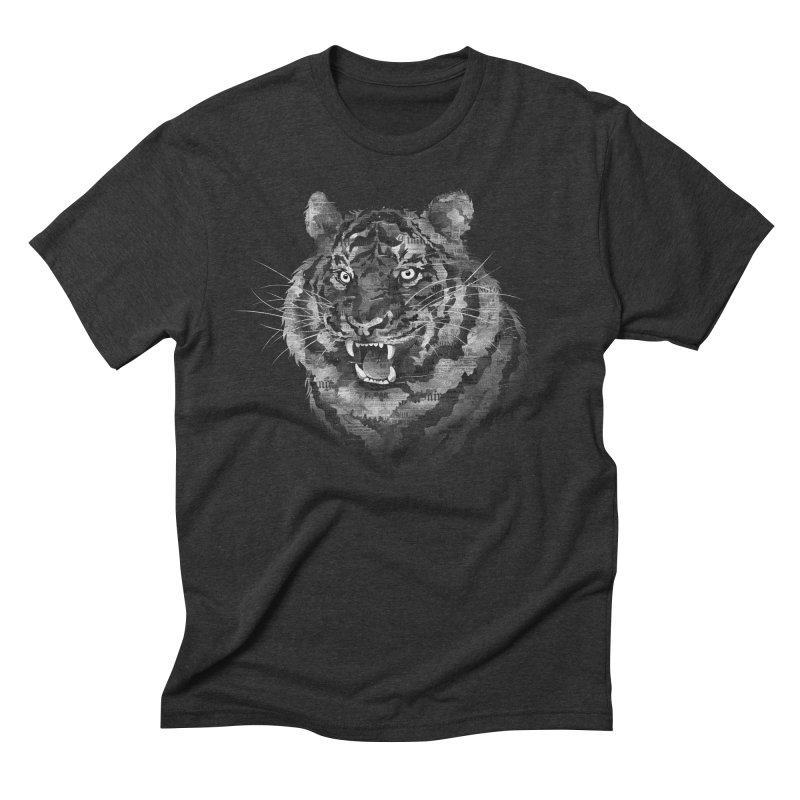 The Paper Tiger Men's Triblend T-Shirt by Jeremy Martinez