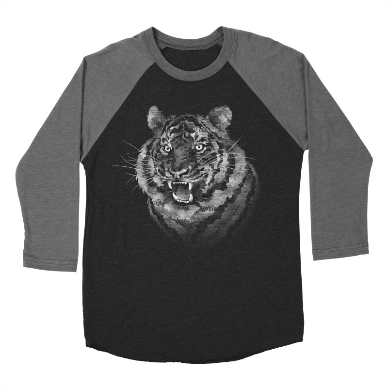 The Paper Tiger Men's Baseball Triblend T-Shirt by Jeremy Martinez