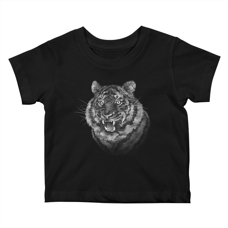 The Paper Tiger Kids Baby T-Shirt by Jeremy Martinez