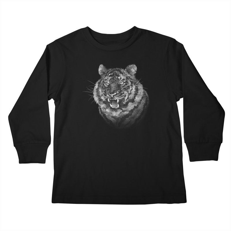 The Paper Tiger Kids Longsleeve T-Shirt by Jeremy Martinez