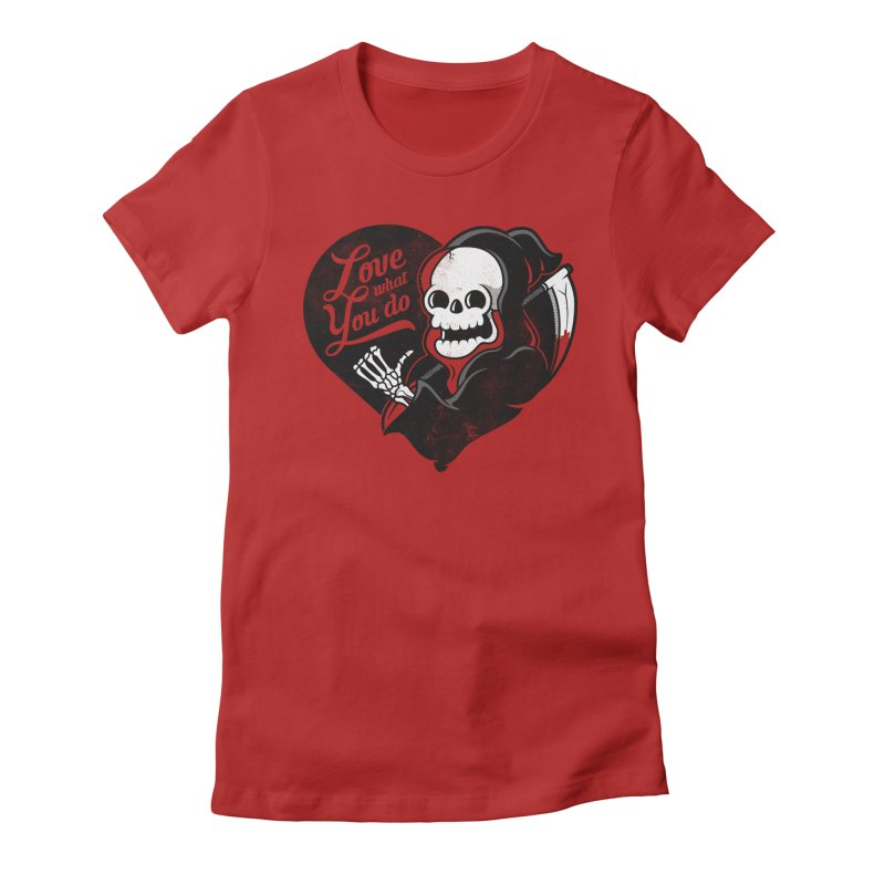 Dream Job Women's Fitted T-Shirt by Jeremy Martinez