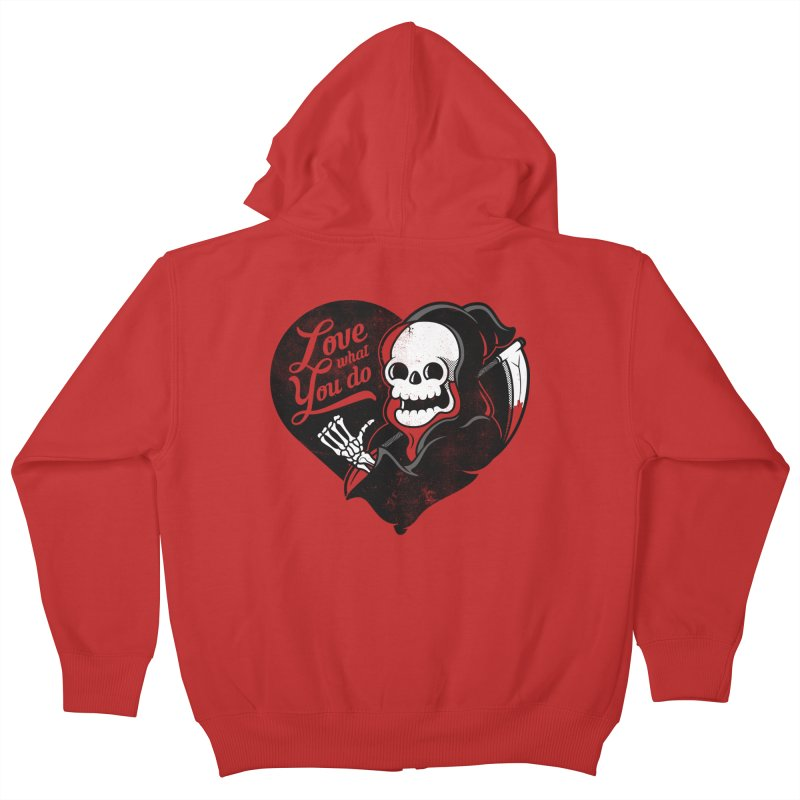 Dream Job Kids Zip-Up Hoody by Jeremy Martinez