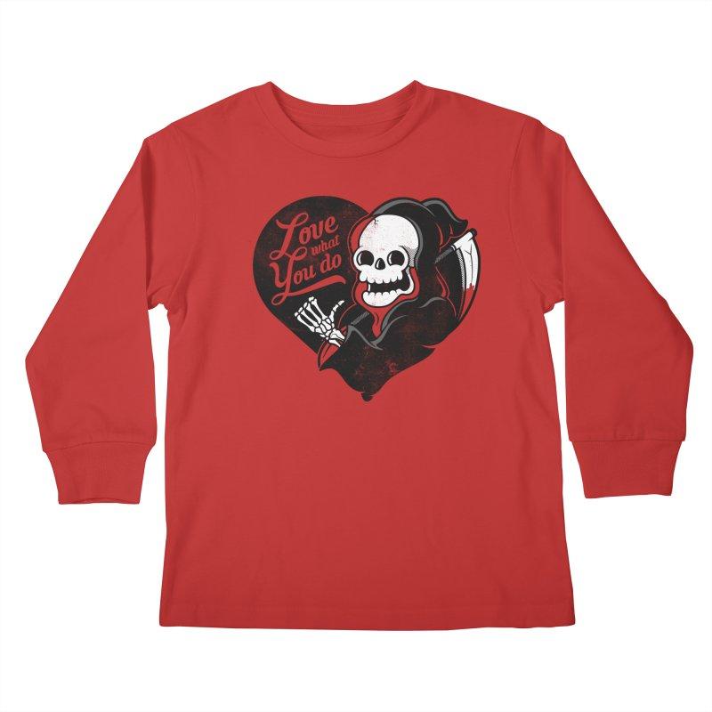 Dream Job Kids Longsleeve T-Shirt by Jeremy Martinez
