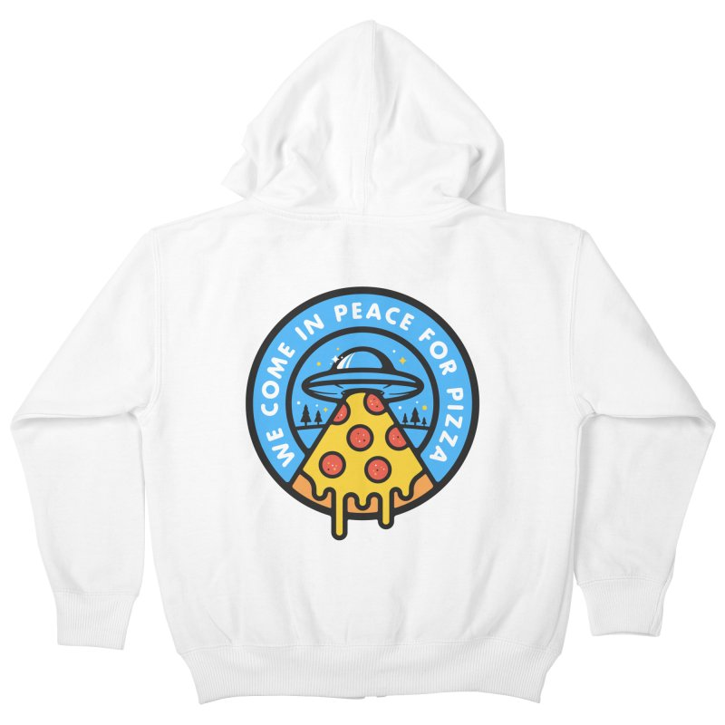 Invasion of the Belly Stuffers Kids Zip-Up Hoody by Jeremy Martinez