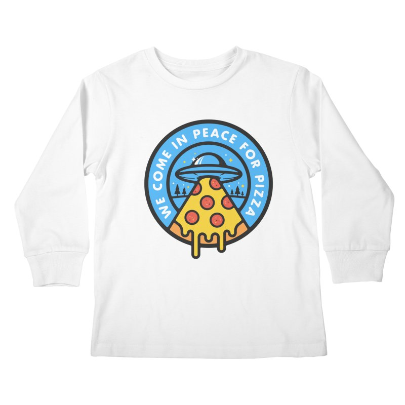 Invasion of the Belly Stuffers Kids Longsleeve T-Shirt by Jeremy Martinez