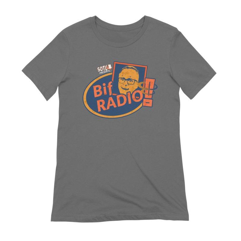 Biff Radio Women's T-Shirt by Jabroni U Network Store