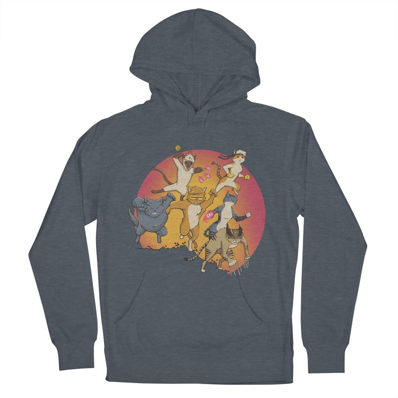 Uncanny X-Cats Men's French Terry Pullover Hoody by Jacey Chase