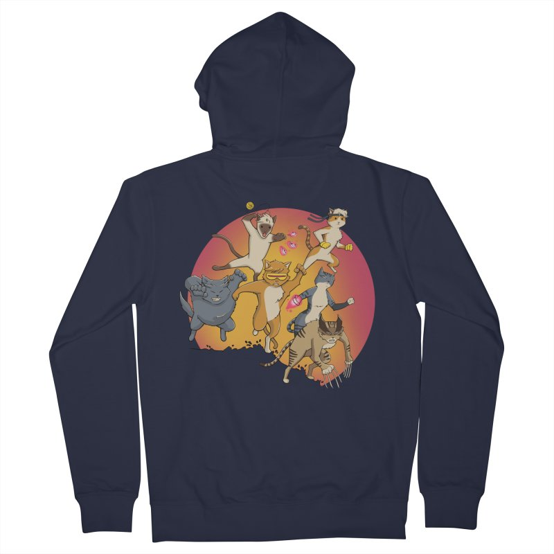 Uncanny X-Cats Women's French Terry Zip-Up Hoody by Jacey Chase