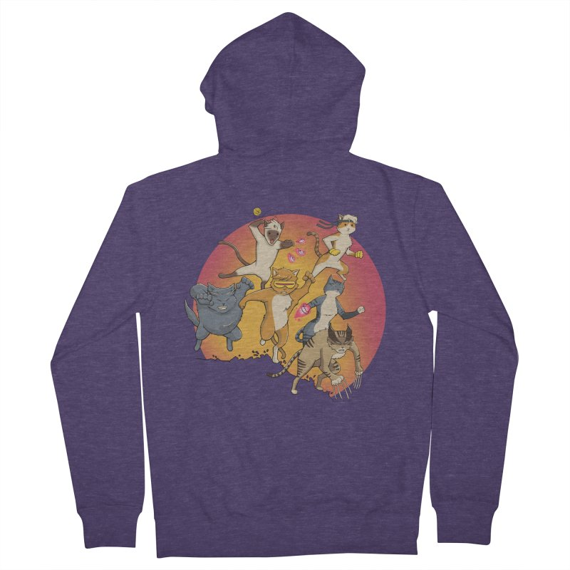 Uncanny X-Cats Men's Zip-Up Hoody by Jacey Chase