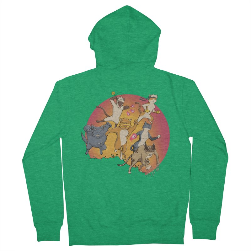Uncanny X-Cats Men's French Terry Zip-Up Hoody by Jacey Chase
