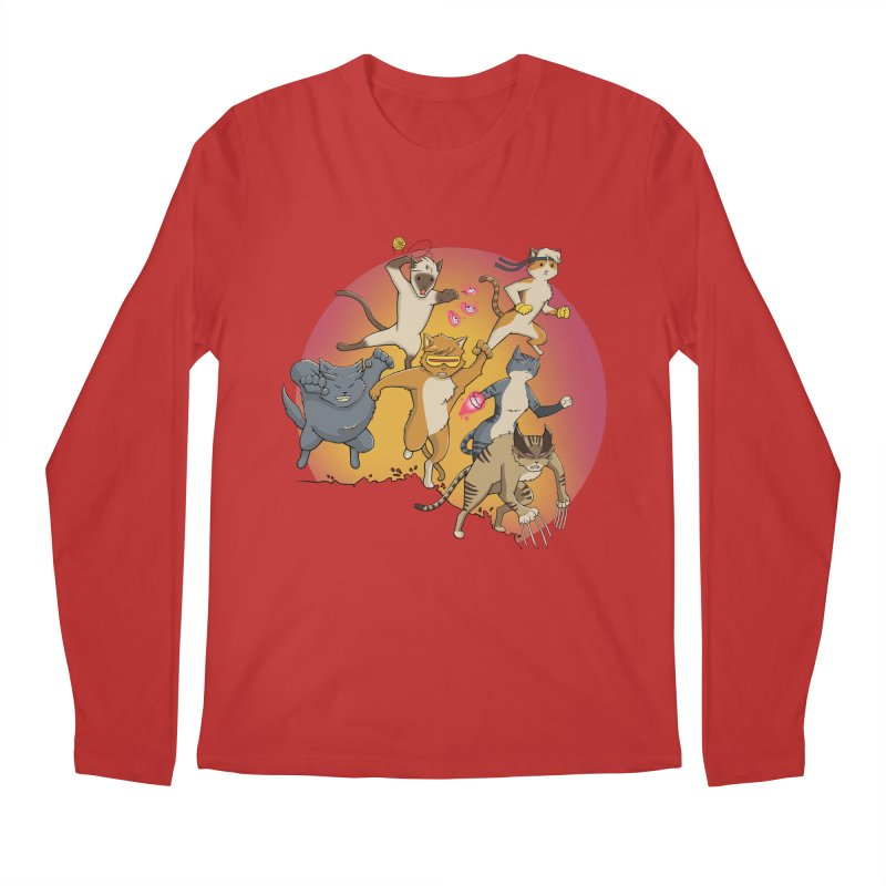 Uncanny X-Cats Men's Regular Longsleeve T-Shirt by Jacey Chase