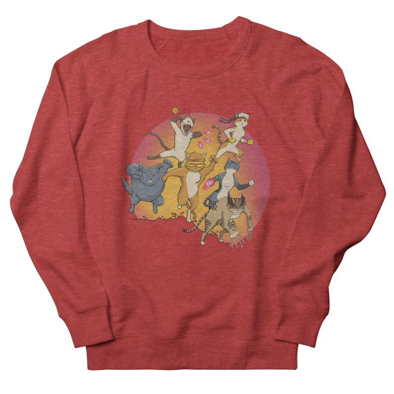 Uncanny X-Cats Men's French Terry Sweatshirt by Jacey Chase