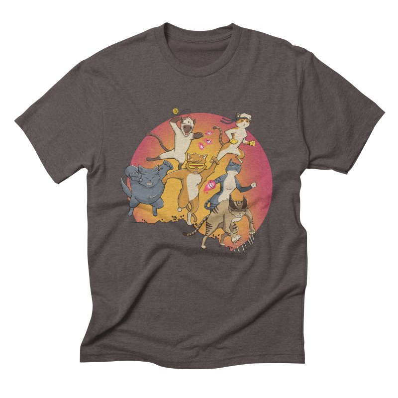Uncanny X-Cats Men's Triblend T-Shirt by Jacey Chase