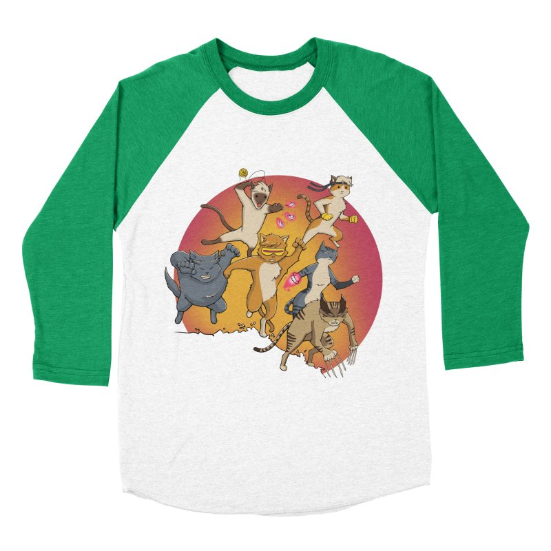 Uncanny X-Cats Women's Baseball Triblend Longsleeve T-Shirt by Jacey Chase