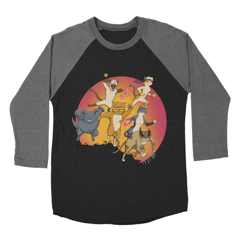 Uncanny X-Cats Men's Baseball Triblend T-Shirt by Jacey Chase