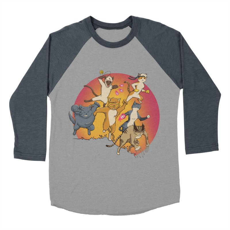 Uncanny X-Cats Men's Baseball Triblend Longsleeve T-Shirt by Jacey Chase
