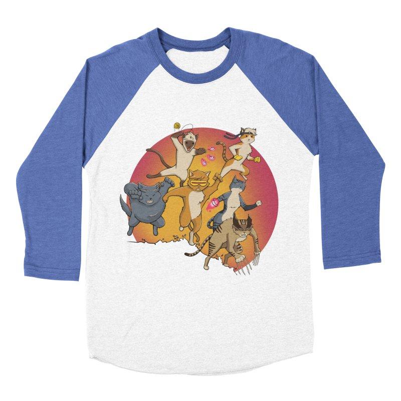 Uncanny X-Cats Men's Baseball Triblend Longsleeve T-Shirt by Jacey Chase