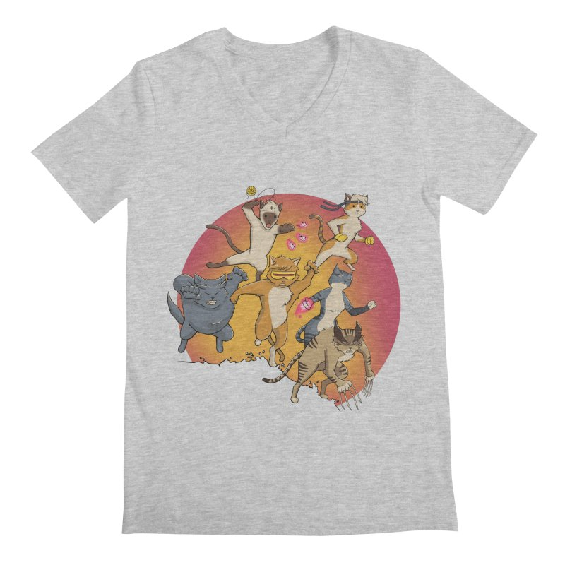 Uncanny X-Cats Men's Regular V-Neck by Jacey Chase