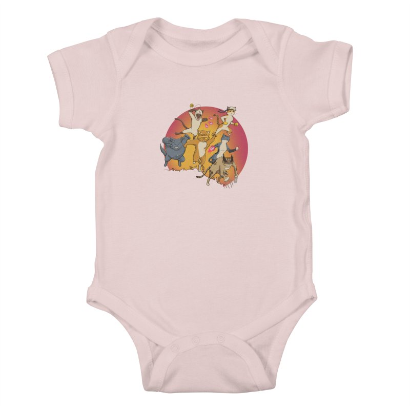 Uncanny X-Cats Kids Baby Bodysuit by Jacey Chase