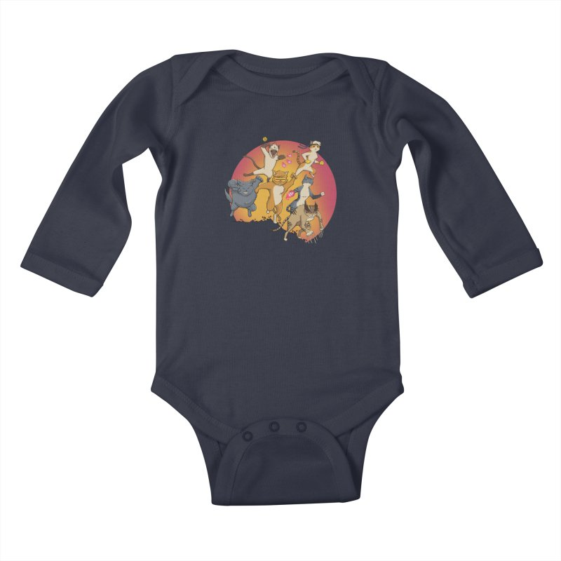 Uncanny X-Cats Kids Baby Longsleeve Bodysuit by Jacey Chase