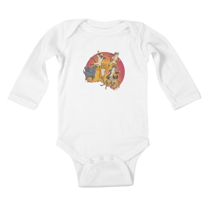 Uncanny X-Cats Kids Baby Longsleeve Bodysuit by Jacey Chase