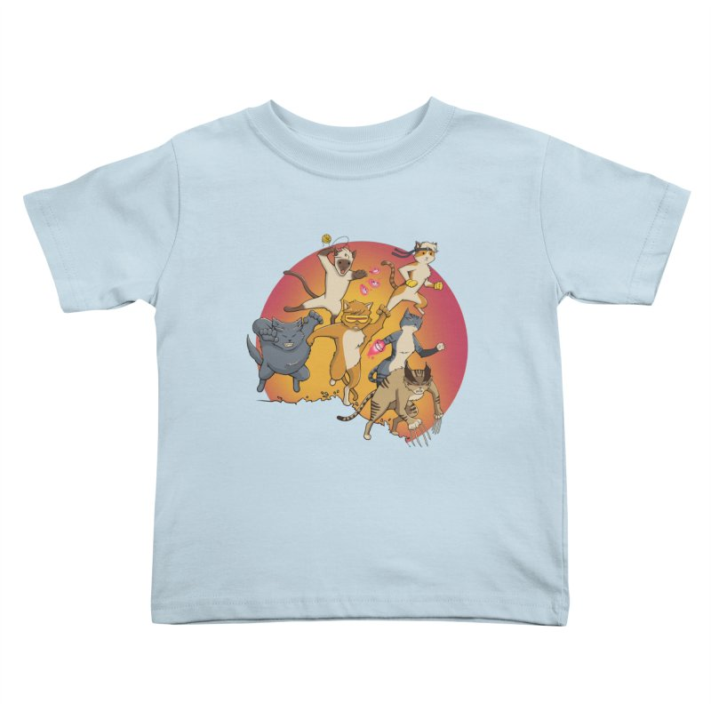 Uncanny X-Cats Kids Toddler T-Shirt by Jacey Chase