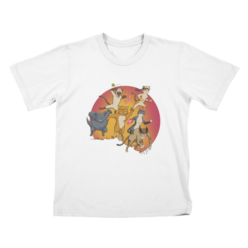 Uncanny X-Cats Kids T-Shirt by Jacey Chase