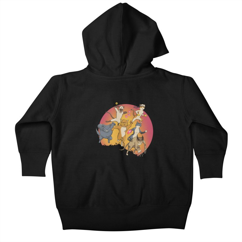 Uncanny X-Cats Kids Baby Zip-Up Hoody by Jacey Chase