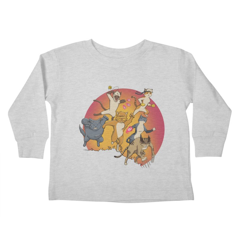 Uncanny X-Cats Kids Toddler Longsleeve T-Shirt by Jacey Chase