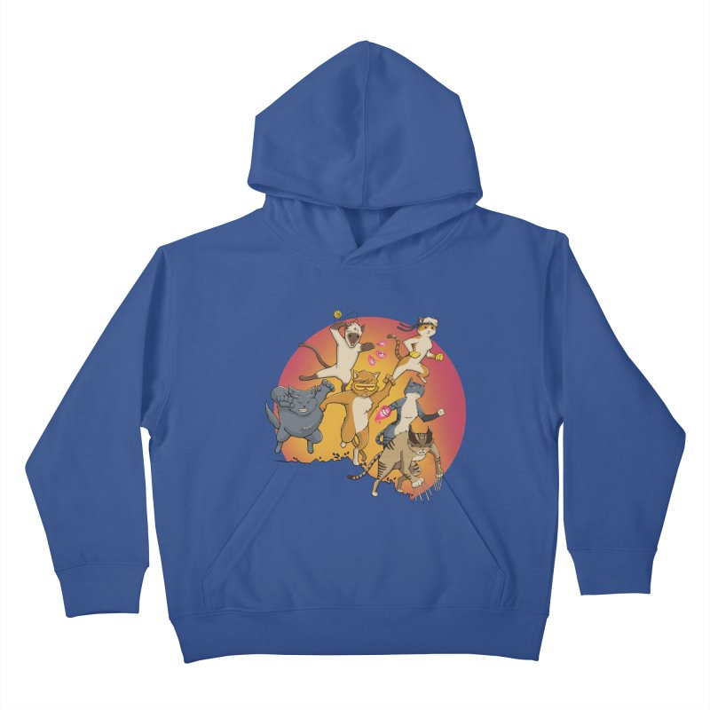 Uncanny X-Cats Kids Pullover Hoody by Jacey Chase