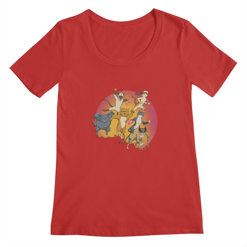 Uncanny X-Cats Women's Regular Scoop Neck by Jacey Chase
