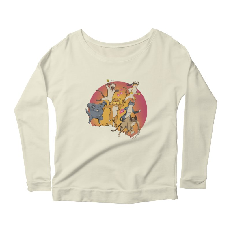 Uncanny X-Cats Women's Scoop Neck Longsleeve T-Shirt by Jacey Chase