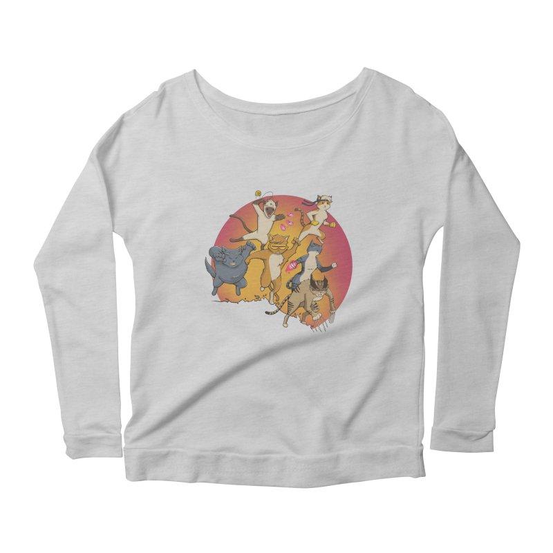 Uncanny X-Cats Women's Longsleeve Scoopneck  by Jacey Chase