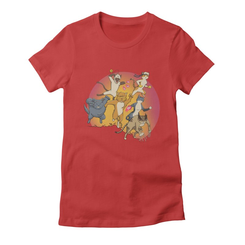 Uncanny X-Cats Women's Fitted T-Shirt by Jacey Chase