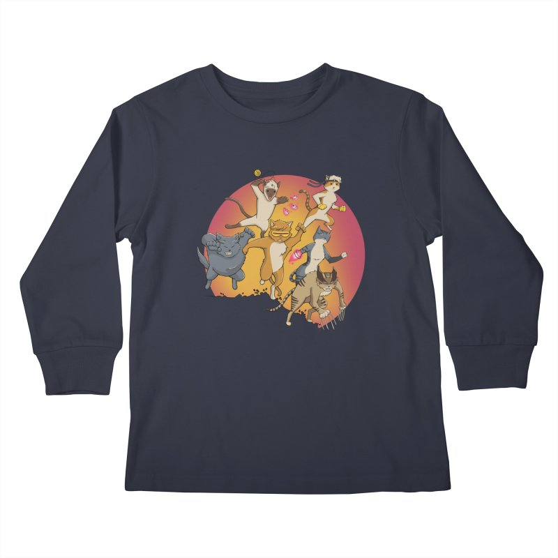 Uncanny X-Cats Kids Longsleeve T-Shirt by Jacey Chase