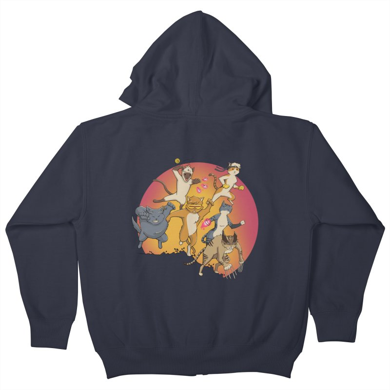 Uncanny X-Cats Kids Zip-Up Hoody by Jacey Chase