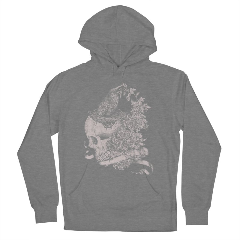 Crow Men's French Terry Pullover Hoody by jackduarte's Artist Shop
