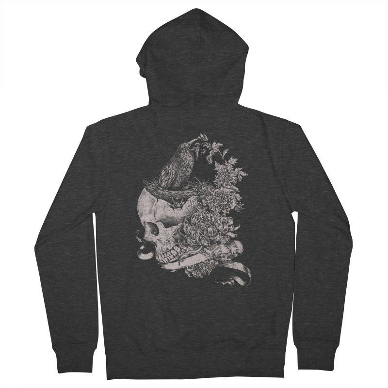 Crow Women's French Terry Zip-Up Hoody by jackduarte's Artist Shop