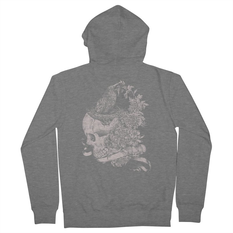 Crow Men's French Terry Zip-Up Hoody by jackduarte's Artist Shop