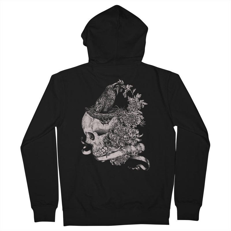Crow Men's Zip-Up Hoody by jackduarte's Artist Shop