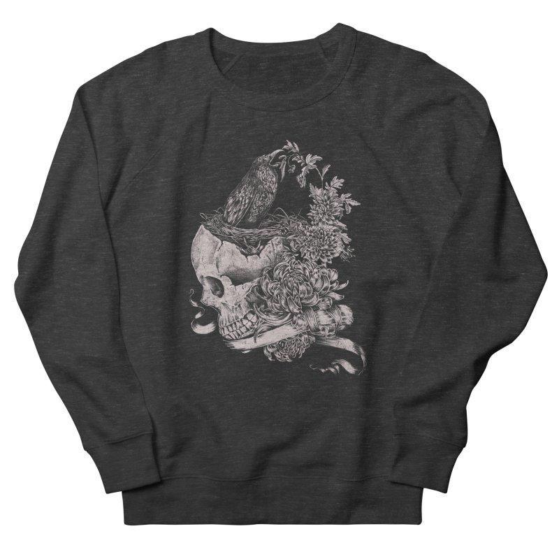 Crow Men's French Terry Sweatshirt by jackduarte's Artist Shop