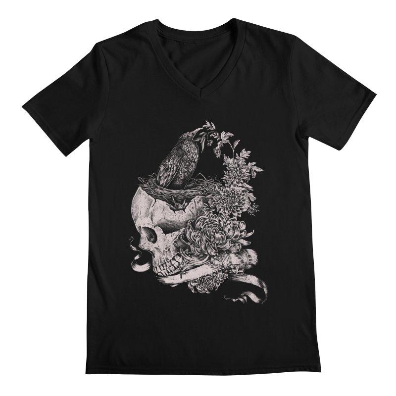 Crow Men's V-Neck by jackduarte's Artist Shop