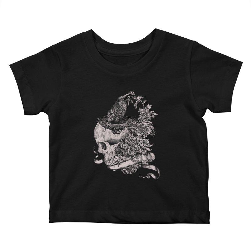 Crow Kids Baby T-Shirt by jackduarte's Artist Shop
