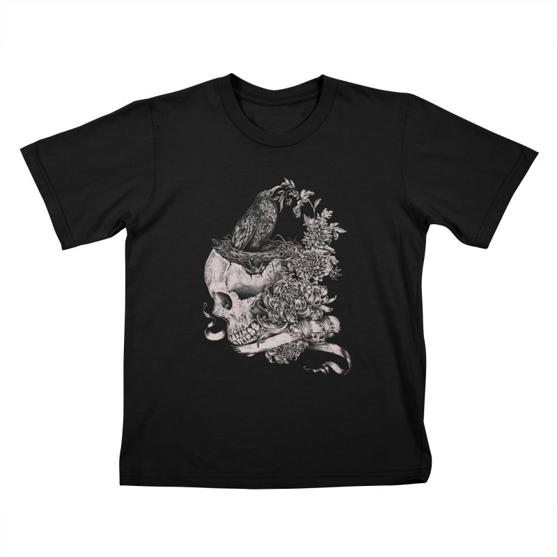 Crow Kids T-Shirt by jackduarte's Artist Shop