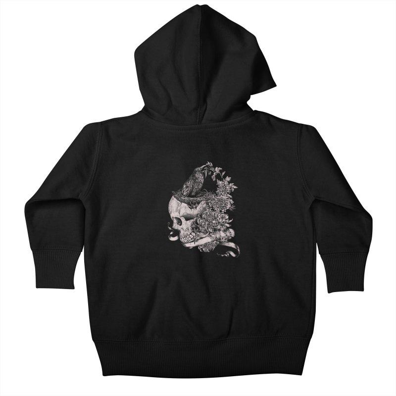 Crow Kids Baby Zip-Up Hoody by jackduarte's Artist Shop