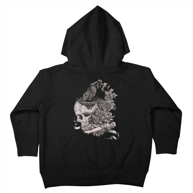 Crow Kids Toddler Zip-Up Hoody by jackduarte's Artist Shop