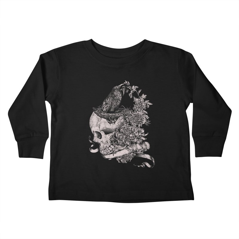 Crow Kids Toddler Longsleeve T-Shirt by jackduarte's Artist Shop
