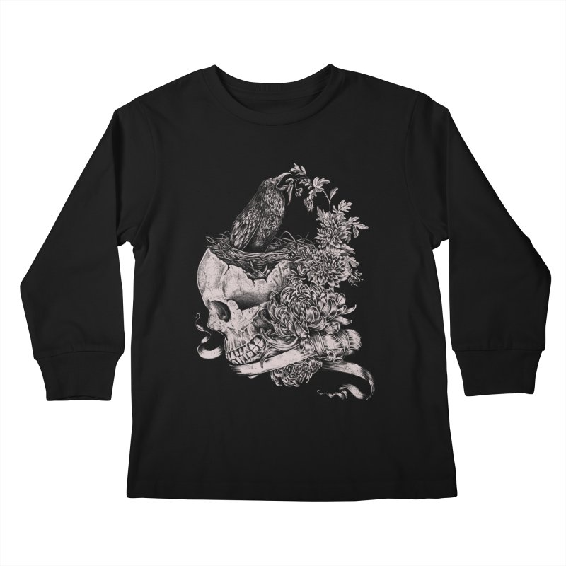 Crow Kids Longsleeve T-Shirt by jackduarte's Artist Shop