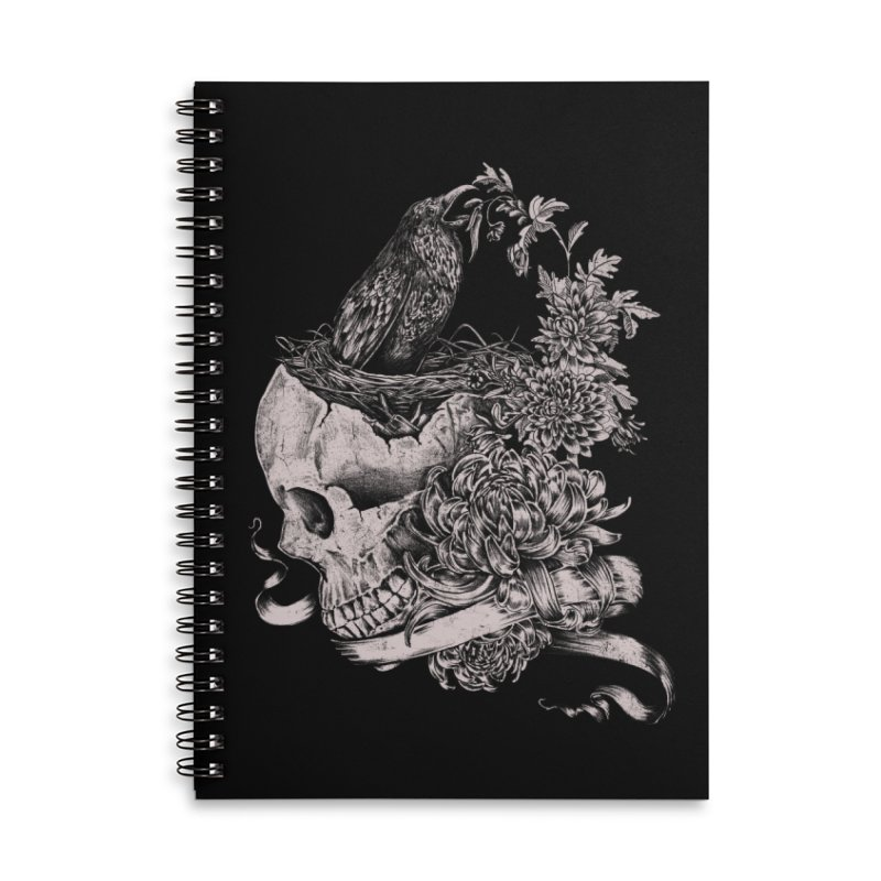 Crow Accessories Lined Spiral Notebook by jackduarte's Artist Shop